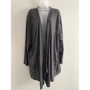 NWT Sejour grey waterfall cardigan